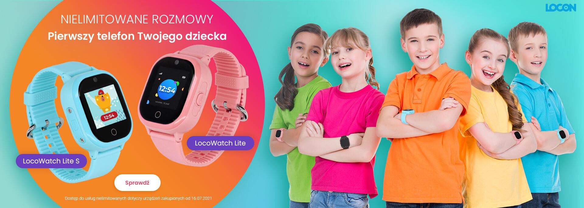 Nielimitowane rozmowy dla dziecka w smartwatchach LocoWatch Lite