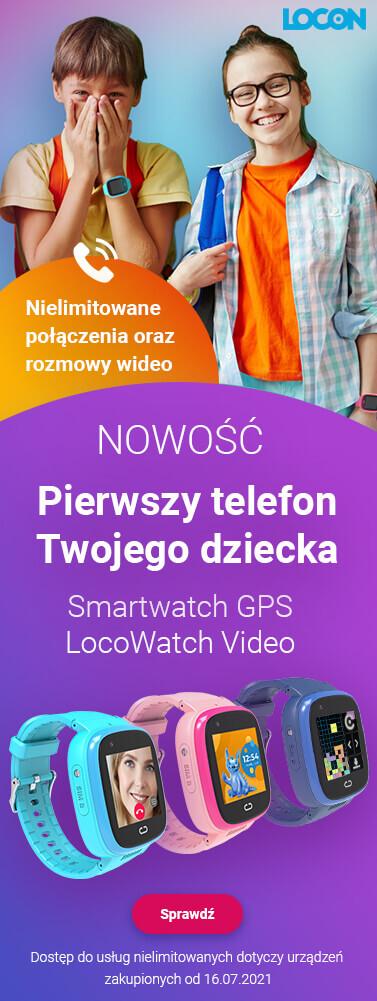 Pierwszy telefon dla dziecka smartwatch LocoWatch Video